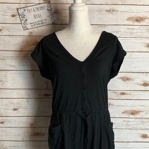 Norma Kamali Black Jumpsuit Size Small